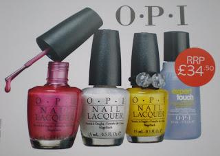 Glamour Mag free OPI nail polishes