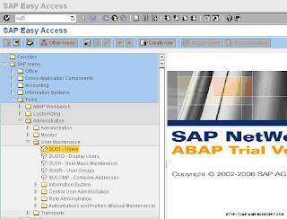 Crear un usuario en SAP