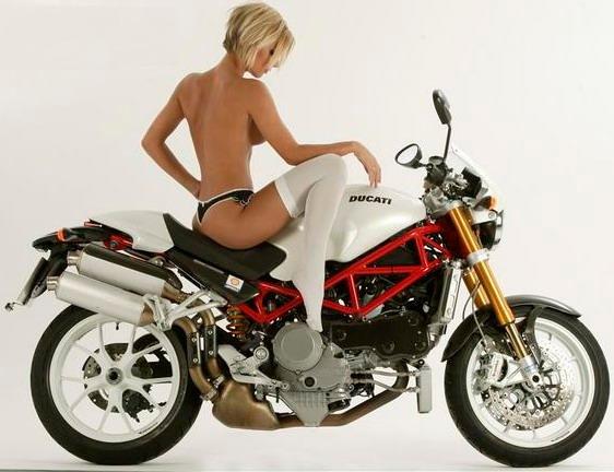 Jen Centrefold Ducati Motor Girl