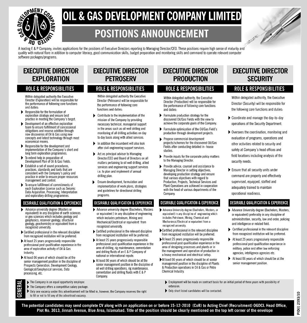 Omv Exploration Production Pakistan Jobs – Daily Motivational Quotes