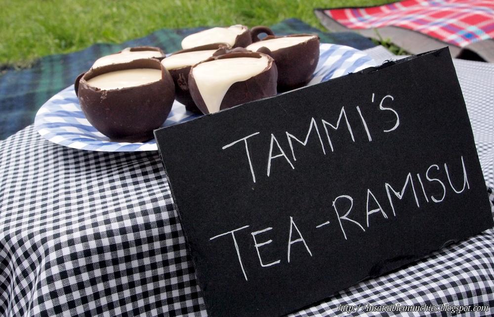 My tea-ramisu in chocolate teacups, made with french vanilla  tea