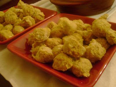 platter of pumpkin cheesecake truffles