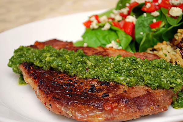 Argentinian Steak with Chimichurri Sauce