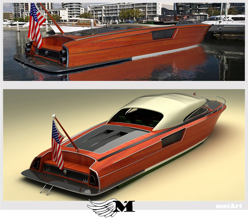 Mustang Wooden Speed Boat