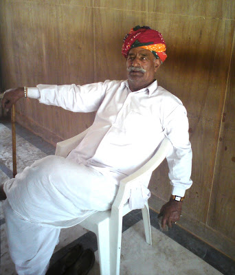 A Rajasthani man with a colorful turban