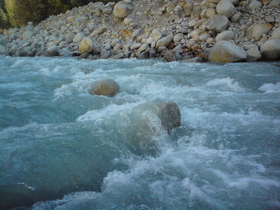 The holiest river of India - The Ganges at Gangotri, Char Dham