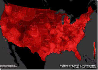 US Twitter Profanity Map