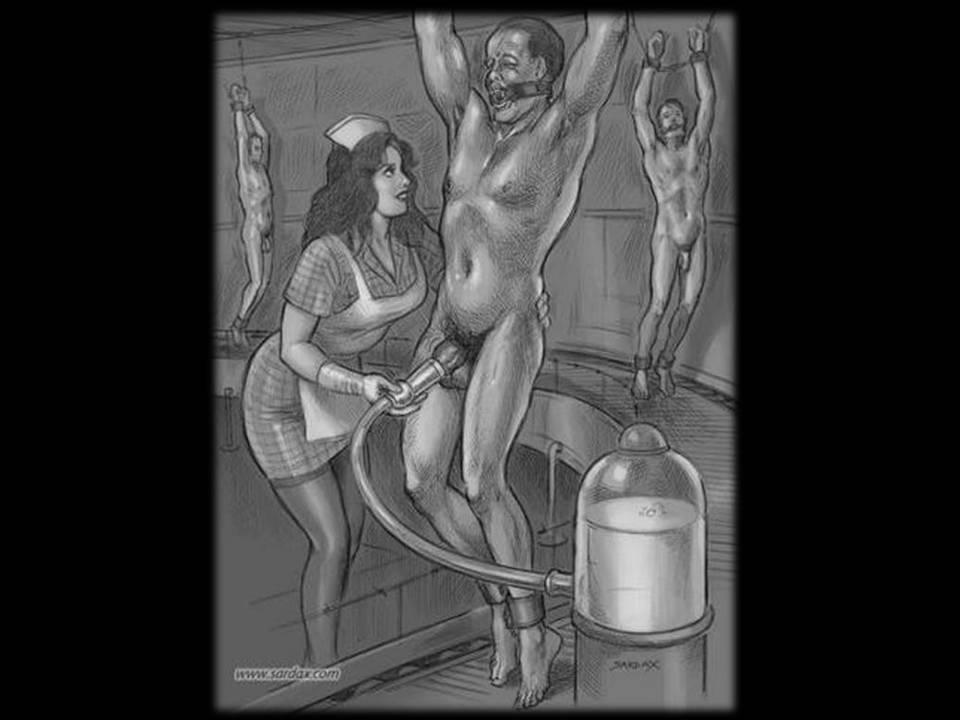 Femdom man milking 3