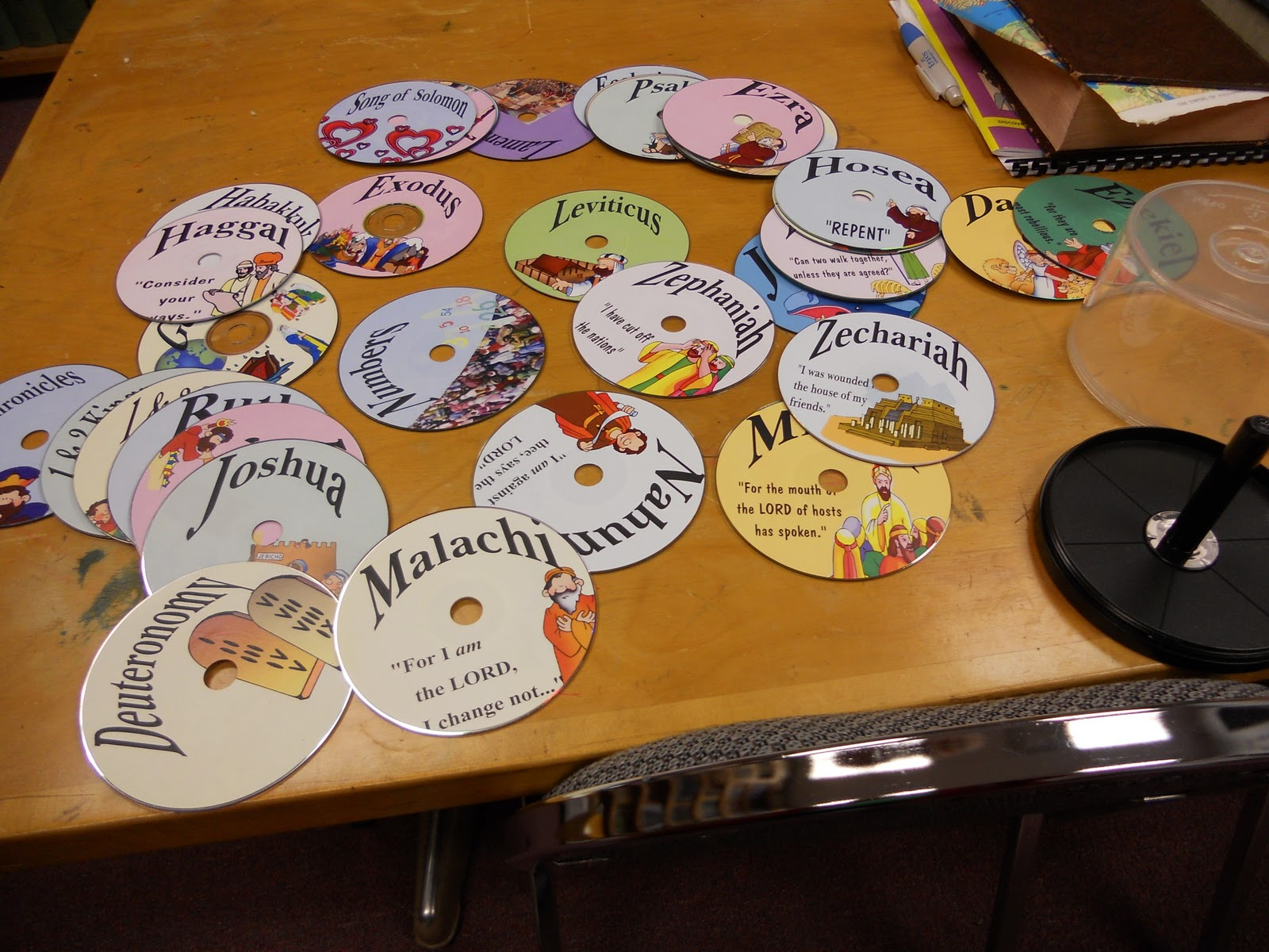 Hands On Bible Teacher Recycled Cd S Turned Books Of The