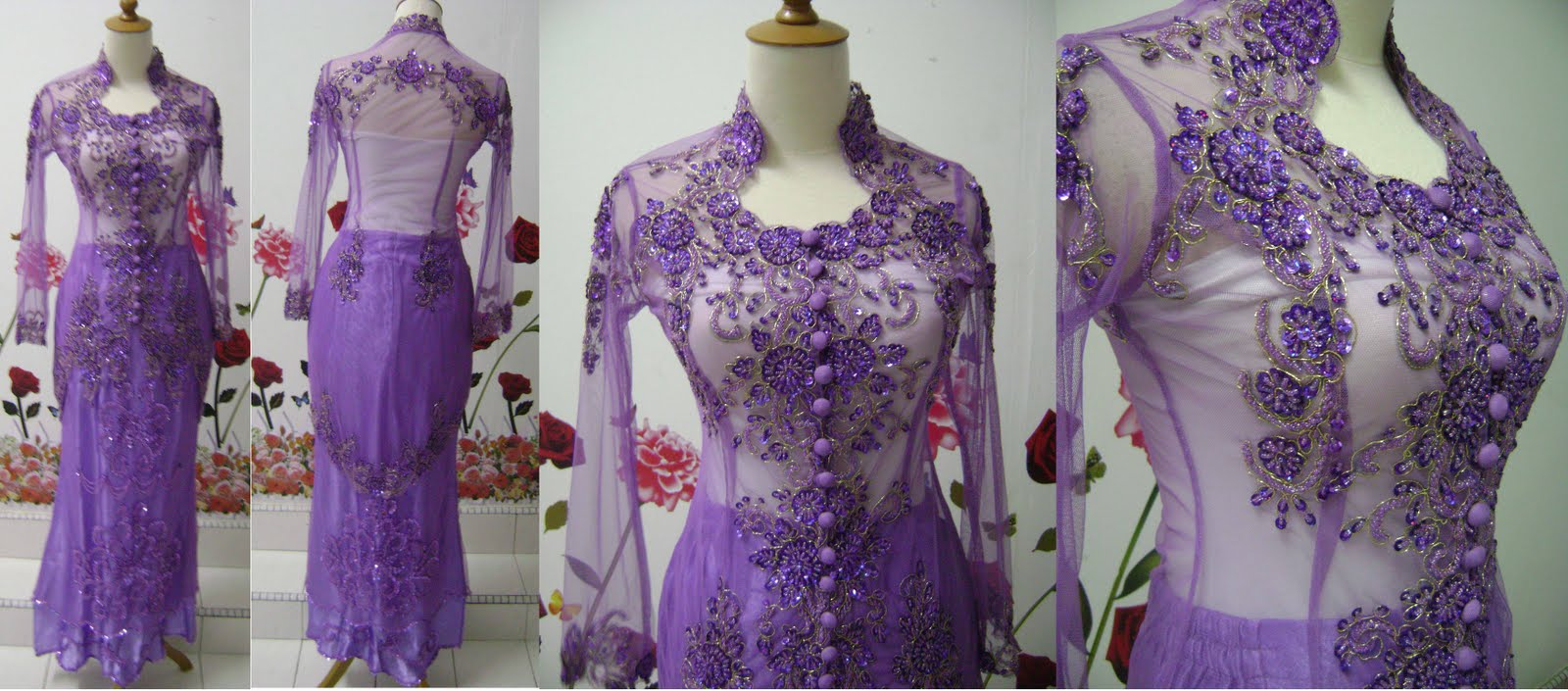 WEDDING NESTA: WEDDING DRESS KEBAYA PENGUIN UNGU MUDA
