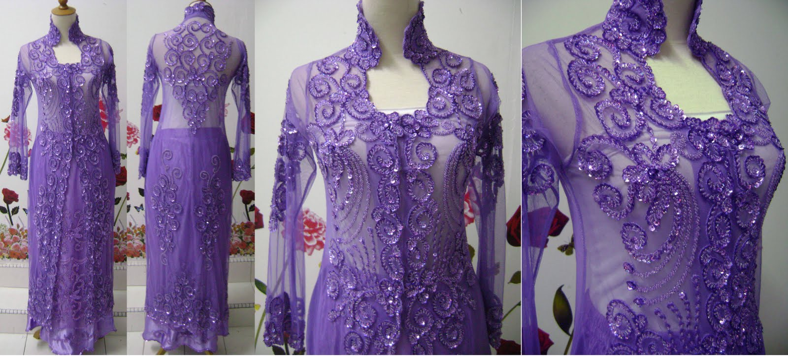 BAJU PENGANTIN KEBAYA SULAM WEDDING DRESS KEBAYA LABUH