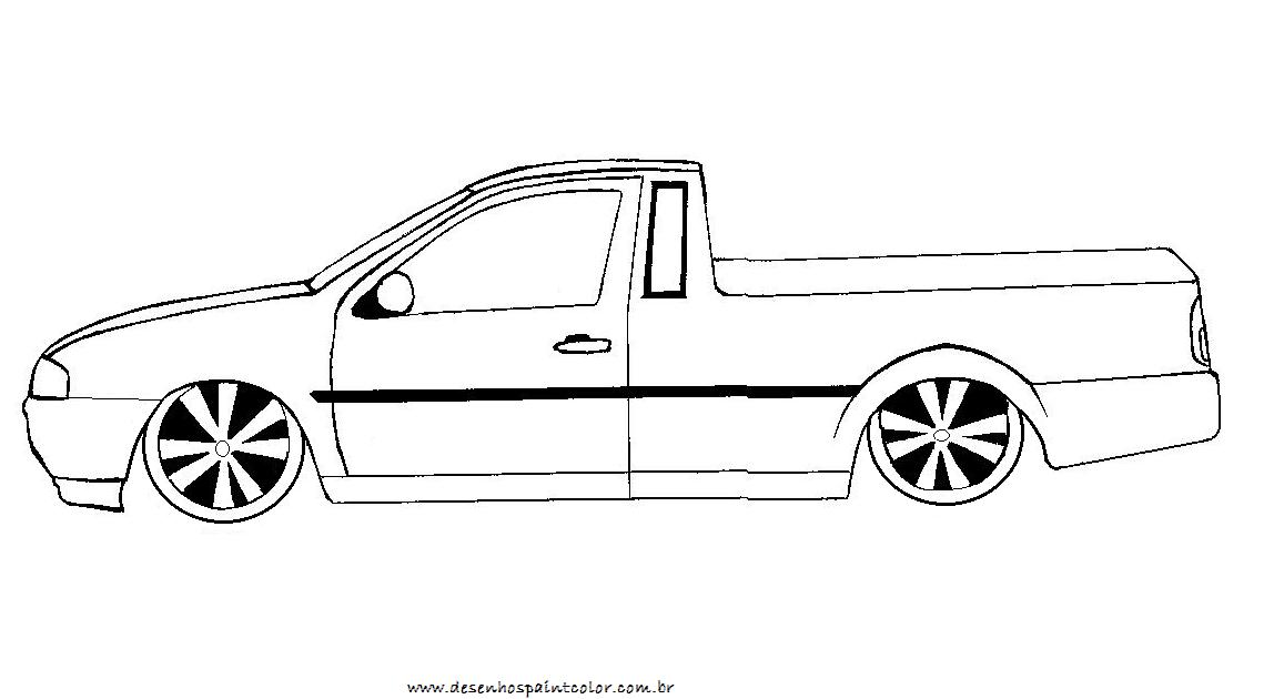 Desenho De Saveiro Rebaixada Para Colorir Desenho De Carro