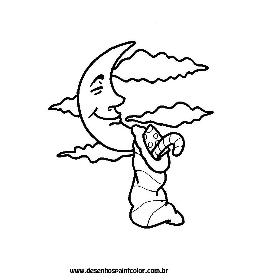 Desenho Ou Tracos De Lua Para Colorir Desenhos Para Crianca