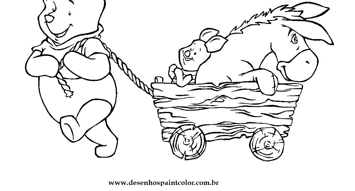 Desenho Do Ursinho Pooh E Sua Turma Para Imprimir E Colorir