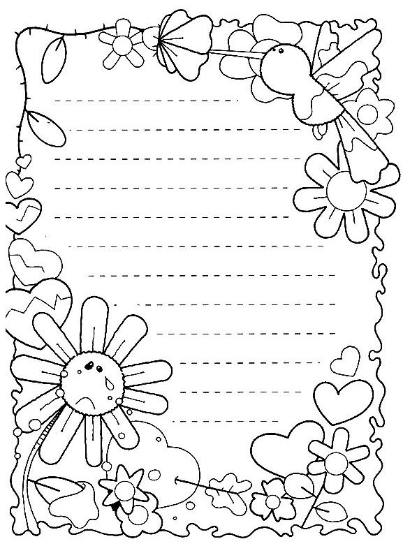 Desenhos E Bordas Para Primavera Pra Gente Miuda