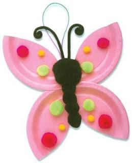 صحون ورقية لتزيين الفصل butterfly-crafts-10a