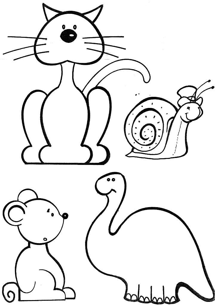 desenhos para colorir animais fofos pra gente miúda