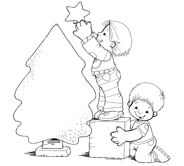 Natal - Desenhos para Colorir Pra Gente Miúda