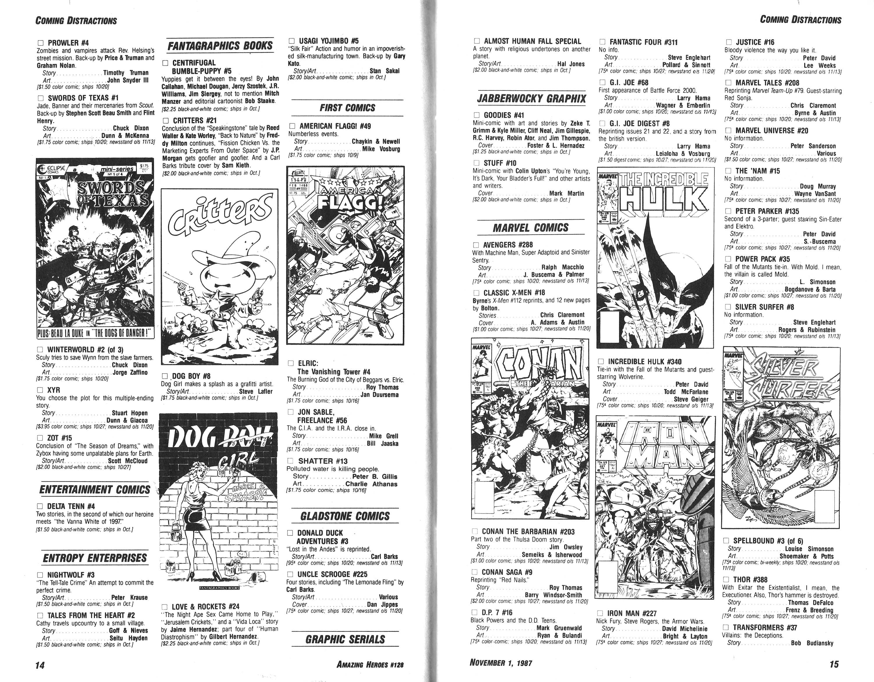 Read online Amazing Heroes comic -  Issue #128 - 8