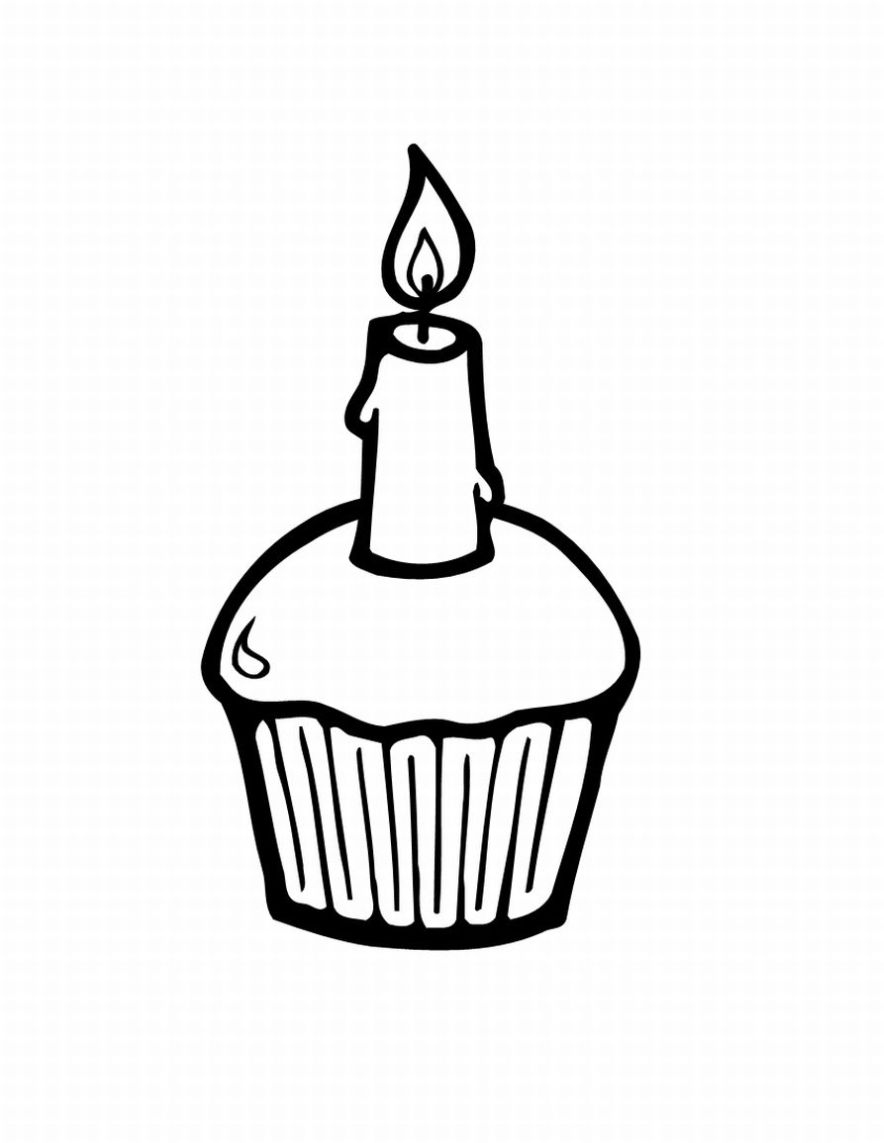 cupcake coloring pages