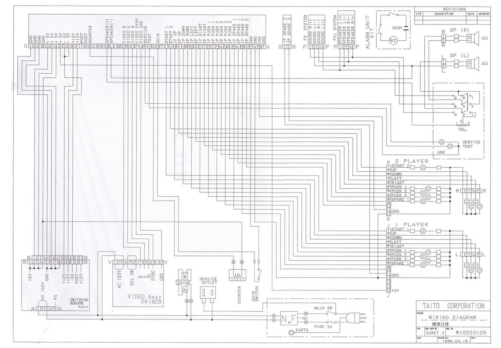 Random Arcade Shit Egret 2 Repro Arts Amp Schematics