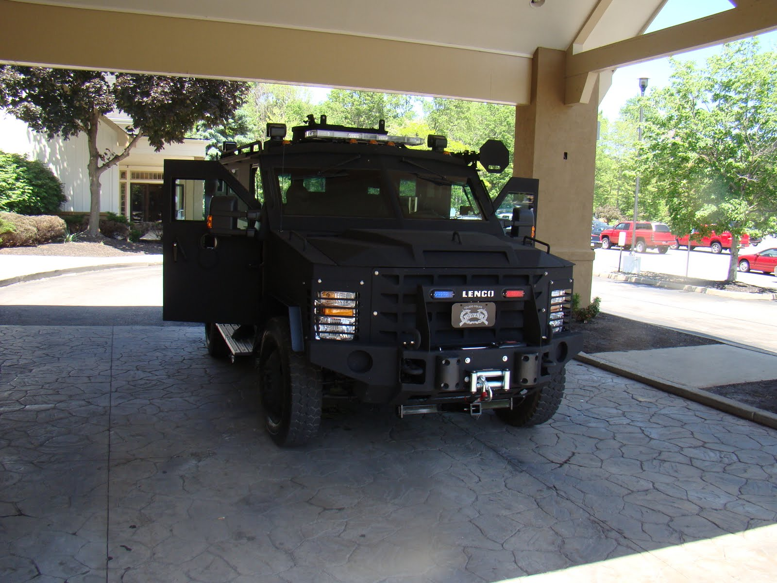 I Guess The Police Heard That We Were Planning A Party For Moms 70th Birthday And Thought Might Get Kind Of Wild They Had SWAT Vehicle