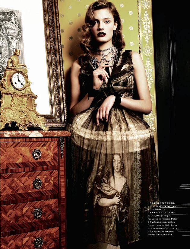 Harper's Bazaar Russia November 2009 Constance Jablonski by Joshua Jordan