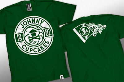 Johnny Cupcakes x NBA The Dream Team T-Shirts - Dunkin' Desserts Until It Hurts Boston Celtics Themed T-Shirt