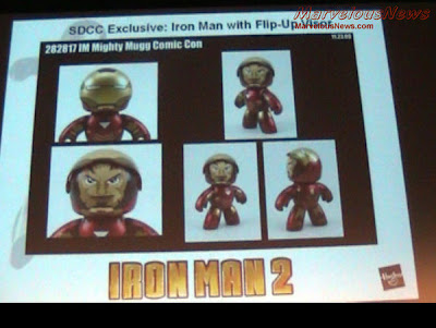 Hasbro - San Diego Comic Con 2010 Exclusive Iron Man 2 Iron Man Mark VI with Flip-Up Visor Sneak Peek