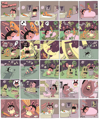 Kidrobot - Nightmare in Jeremyville 8 Inch Dunny Comic Strip Poster