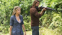 Lost - Elizabeth Mitchell as Juliet Burke and Josh Holloway as James 'Sawyer' Ford