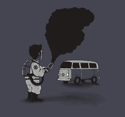 Threadless - LOST Inspired T-Shirt Smokebuster by Nacho Diaz Arjona