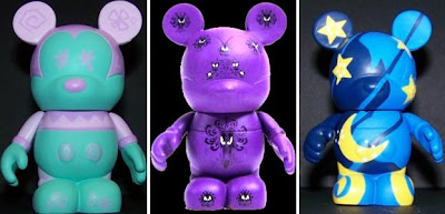 Disney's Vinylmation Park Series 1 3 Inch Mickey Mouse Figures - Teacup, Haunted Mansion & the Sorcerer's Hat (from Fantasia)