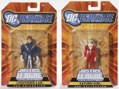 MattyCollector.com Exclusive JLU Legion of Super Heroes 4 Pack - Lightning Lad and Saturn Girl Action Figures