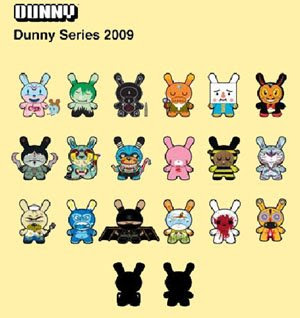 Kidrobot - Dunny Series 2009 Complete Set Sneak Peek Photo