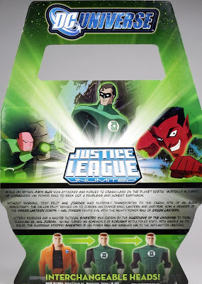 Justice League Unlimited San Diego Comic Con 2009 Exclusive Green Lantern Origins 3 Pack Back - Abin Sur, Hal Jordan & Sinestro