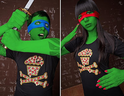 Johnny Cupcakes x Teenage Mutant Ninja Turtles Pizza Crossbones Guys & Girls T-Shirts