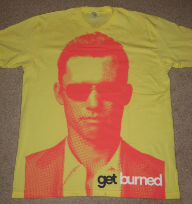 Burn Notice San Diego Comic Con 2009 Exclusive Michael Westen 'Get Burned' Yellow T-Shirt