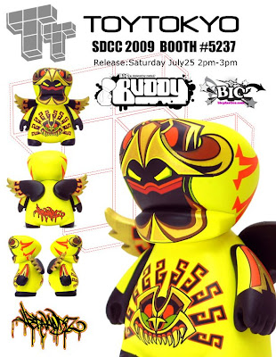 San Diego Comic Con 2009 Exclusive Yellow BIC Buddy by Jesse Hernandez