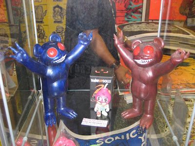 Blue and Red Prototype Believe Dero Resin Figures by Jermaine Rogers