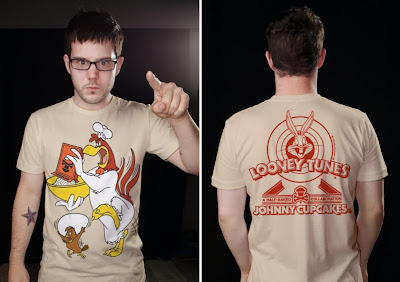 Johnny Cupcakes x Warner Bros. Looney Toons T-Shirts - Foghorn Leghorn and Henery Hawk T-Shirt