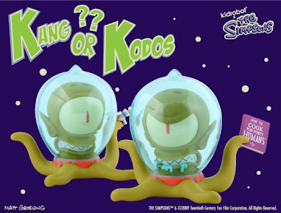 Kidrobot x The Simpsons 6 Inch Kang & Mystery Chase Kodos Vinyl Figures
