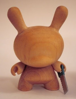 Kidrobot Dunny Series 2009 Chase Wood Dunny Variants by Travis Cain - Wood Dunny