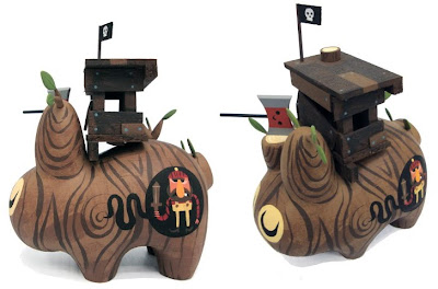 Hand Painted Custom Treehouse Wood Labbit by Amanda Visell