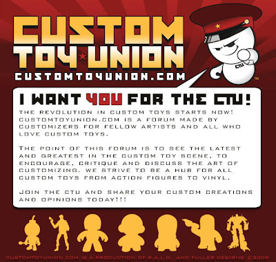 The New Custom Toy Union Forums created by B.A.L.D. & Fuller