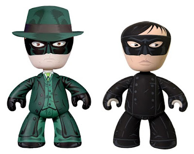 The Green Hornet Movie Mez-Itz Set by Mezco Toyz - Green Hornet and Kato 6 Inch Vinyl Figures