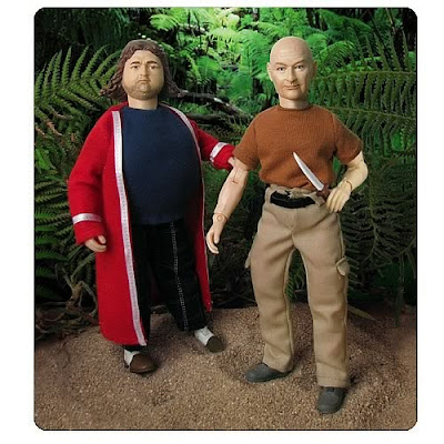 LOST 8 Inch Hurley Reyes & John Locke Mego Style Action Figures