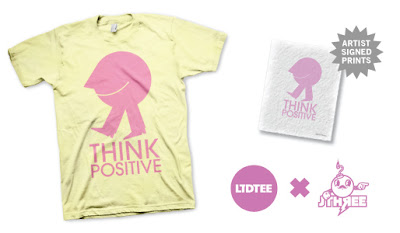 LTD Tee - Think Positive T-Shirt & Art Print Box Set by J3Concepts