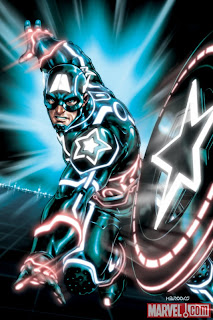 Marvel Comics - Captain America #612 TRON Legacy Variant Cover featuring Captain America by Mark Brooks