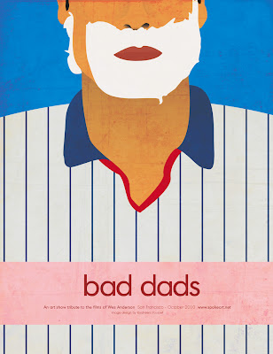 Bad Dads: An Art Show Tribute to Wes Anderson presented by Spoke Art Official Artwork by Ibraheem Youssef